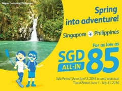 Visit Philippines from SGD 85 with Cebu Pacific