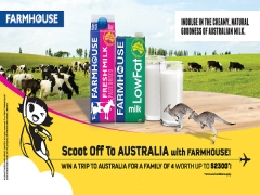 Win 4 Tickets to Australia with Scoot and Farmhouse