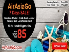 7 Days Sale Starting from SGD 85 with AirAsiaGo