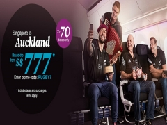 Fly to Auckland from SGD777* with Air New Zealand