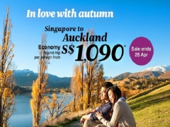 New Zealand on Sale from SGD1,090 with Air New Zealand