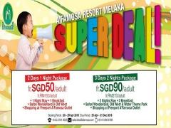 A'Famosa Resort Melaka Super Deal from SGD50