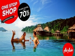 Up to 70% off flight + hotel with AirAsia