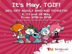 20% Off Adults and Kid Tickets in Kidzania this May