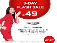 3-Day Sale Special in AirAsia from SGD49