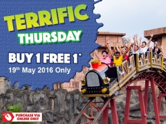 Buy 1 Free 1 Terrific Thursday (19 May 2016) in Sunway Lagoon