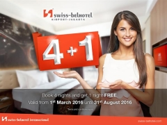 Book 4 Nights and Get 1 Night FREE in Swiss-Belhotel Airport, Jakarta