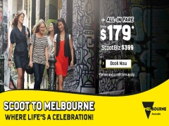 Scoot to Melbourne from SGD179*