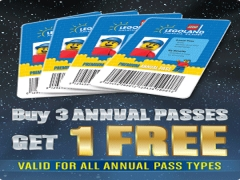 Buy 3 Annual Passes of Legoland and Get 1 Free