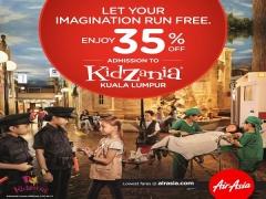 Enjoy 35% Off Tickets to KidZania Kuala Lumpur with AirAsia Boarding Pass