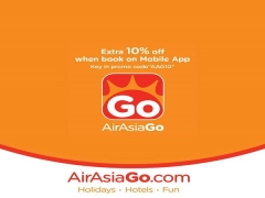 Get an Extra 10% Off on Bookings Made via the AirAsiaGo Mobile App