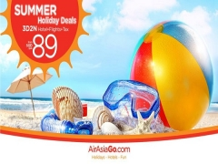 Summer Holiday Deals from SGD89 with AirAsiaGo