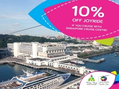 Enjoy 10% Off Joyride in Singapore Cable Car when you Board Singapore Cruise Centre