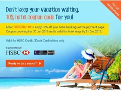 10% Off Hotel Bookings with Zuji and HSBC