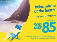 Travel to the Philippines from SGD85 with Cebu Pacific Air