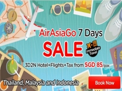 AirAsiaGo 7 Days Sale! 3D2N Hotel+Flights+Tax from SGD85