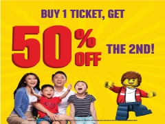 Get 50% Off the 2nd Ticket in Legoland Malaysia