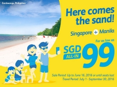 Travel to the Philippines from SGD99 with Cebu Pacific Air