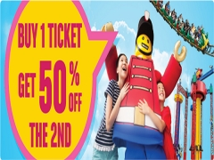 Buy 1 Legoland Malaysia Ticket Get 50% Off the 2nd