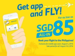 Get App and Fly to Philippines with Cebu Pacific from SGD85