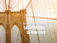 Magnificent August Deal: SGD40 Off Flights to New York via CheapTickets.sg