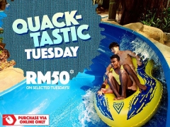Quack-tastic Tuesday Specials from RM50 Rate at Sunway Lagoon