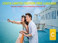 Costa Victoria 4D3N Season Sale: S$265 for a Free Upgrade to Oceanview Cabin (Usual S$739)