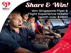 Share and WIN Admission Tickets to Singapore Flyer and Flight Experience