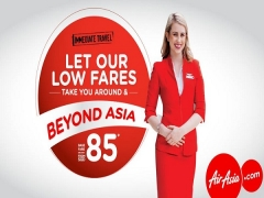 Travel Around Asia with Low Fares from SGD85 with AirAsia