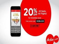 3-Days Sale | Save 20% Airfares Using AirAsia Mobile App