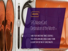 WIN a Luxury 3D2N Stay in Starwood Hotel with MasterCard