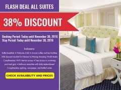 Flash Deal All Suites at The Royal Bintang Penang with 38% Discount
