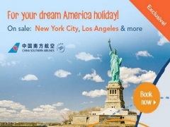 Fly to North America with China Southern Airlines and Zuji