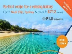 Special Fares with Fiji Airways from SGD712 via Zuji