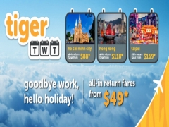 Say Hello to Holiday with Tigerair's All-in Return Fare from SGD49