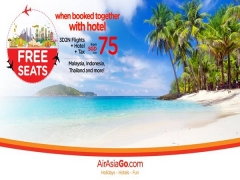 Free Seats when Booked Together with Hotel via AirAsiaGo