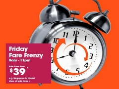 Fly Around Asia from SGD39 with Jetstar's Friday Fare Frenzy