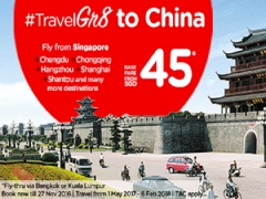 #TravelGr8 to China with AirAsia