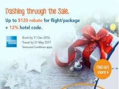 Enjoy Up to $120 Rebate and More on Travel Deals with Zuji and AMEX