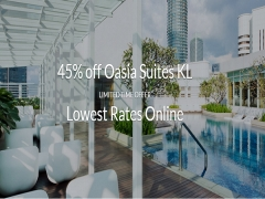 Enjoy 40% Off Room Rate at Oasia Suites Kuala Lumpur with Far East Hospitality