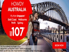 Fly to Australia on AirAsia from SGD107