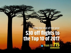 Magnificent December Deal with SGD30 Off on Flight Fares