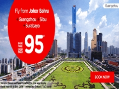 Fly to Guangzhou, Sibu, Surabaya and more with AirAsia from SGD95