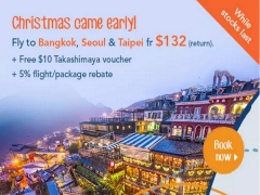 Enjoy Christmas Break with Zuji on Flights to Bangkok, Seoul & Taipei