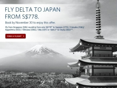 Fly Delta to Japan from S$778