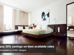 Enjoy 20% savings on best available rates at Metropolitan by COMO, Bangkok