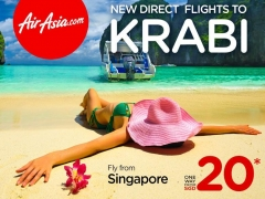 New Direct Flights to KRABI from SGD20*
