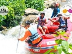 $45 for Full-Day Whitewater Rafting, Elephant Ride and 4WD Trip at Ton Pariwat Wildlife