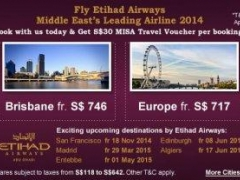 Fly Etihad Airways Middle East's Leading Airline 2014