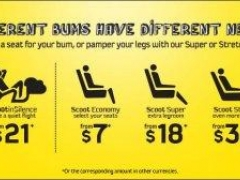 Different Bums Have Different Needs: ScootinSilence have a quiet flight from $21